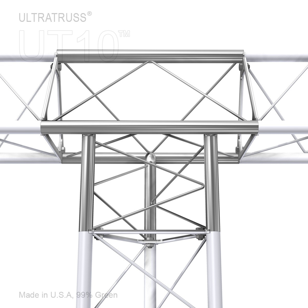 Outside Vertex 10 Inch Triangle Truss