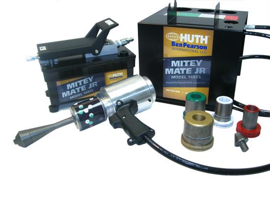 huth 1685s mitey mate jr expander w tooling kit