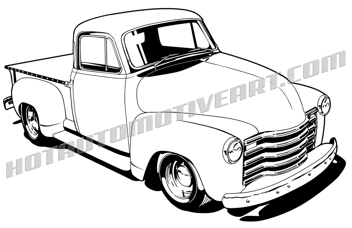 Chevy Pickup Truck Clipart High Quality