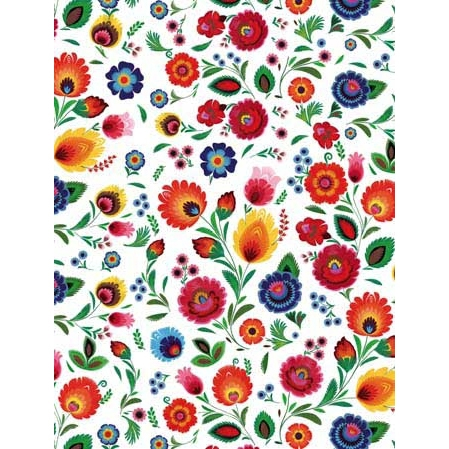 Polish Art Center Polish Gift Wrapping Paper Wycinanki
