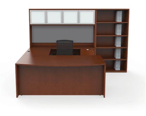 cherryman industries ja 176n jade series modern u shaped executive desk
