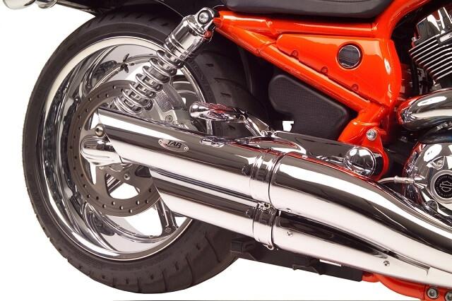 v rod slash cut exhaust pipes non baffled