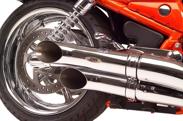 v rod staggered turn out exhaust pipes non baffled