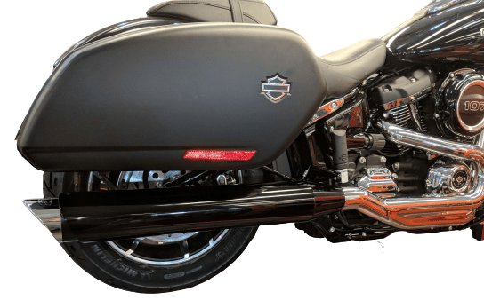 chrome tip compatible sport glide exhaust pipes