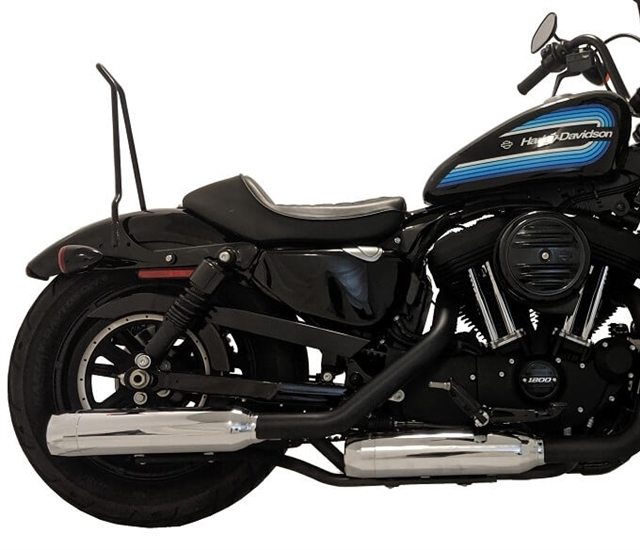 14 up h d sportster xl chrome tip compatible exhaust pipes