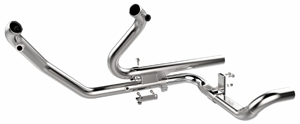 chrome 2 into 2 touring exhaust head pipes