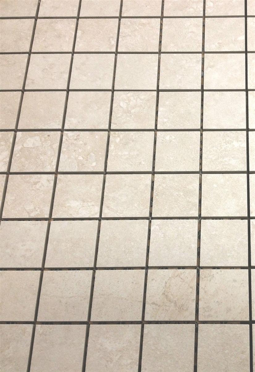 2x2 beige matte porcelain floor and wall mosaic tile
