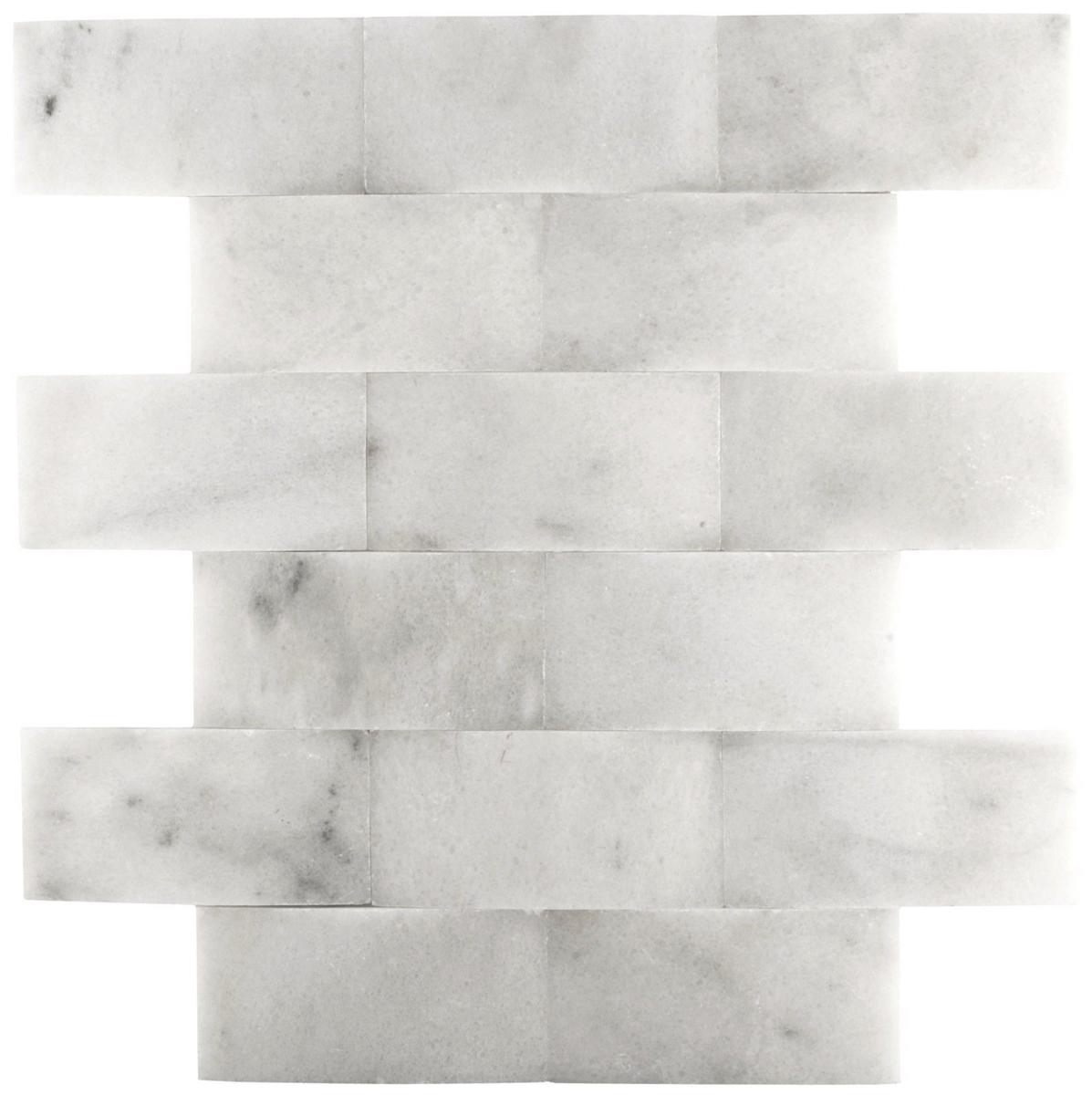 carrara 2x4 wavy honed marble mosaic wall backsplash tile