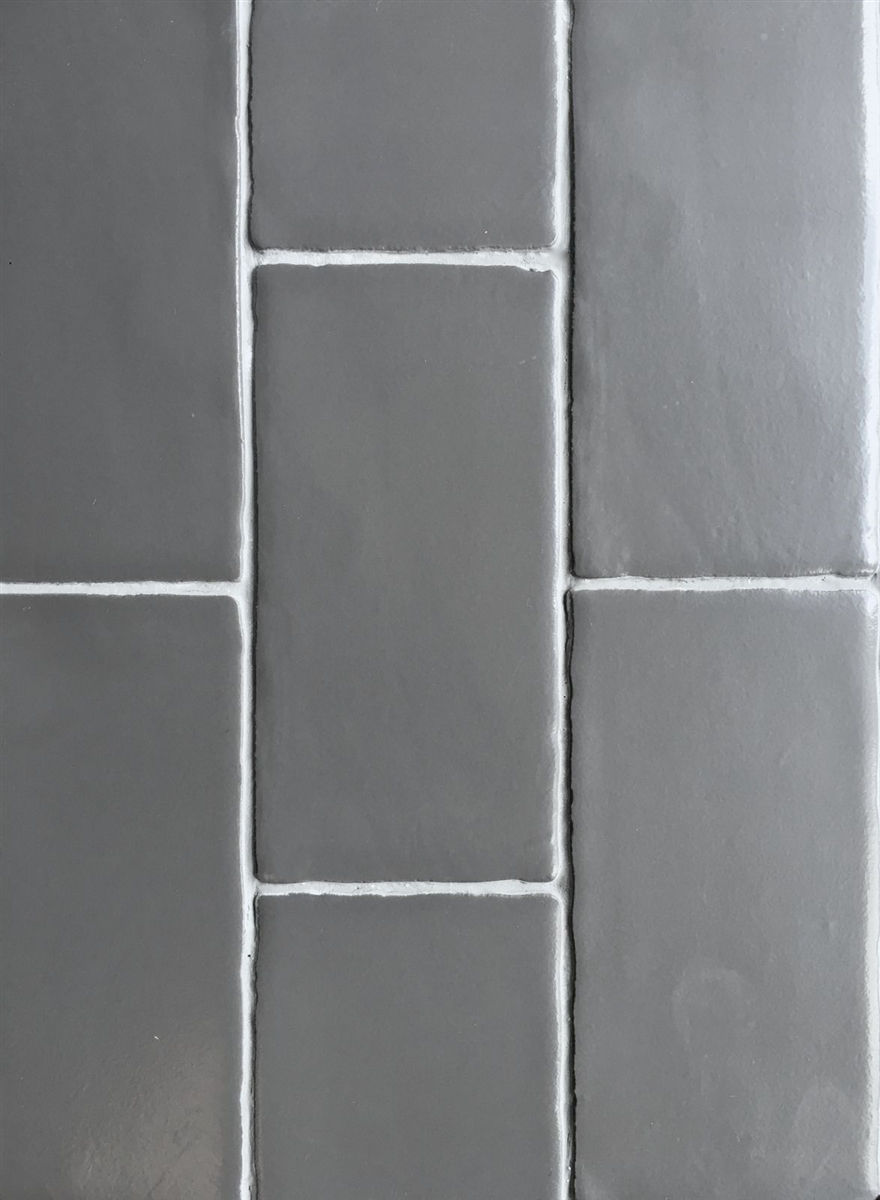 3x6 dark gray matte subway ceramic wall tile