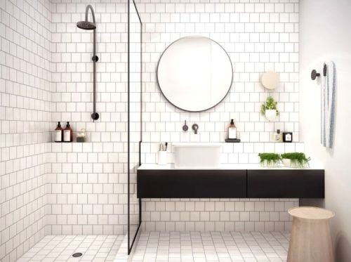 white 4x4 shiny glossy finish ceramic wall and floor tile
