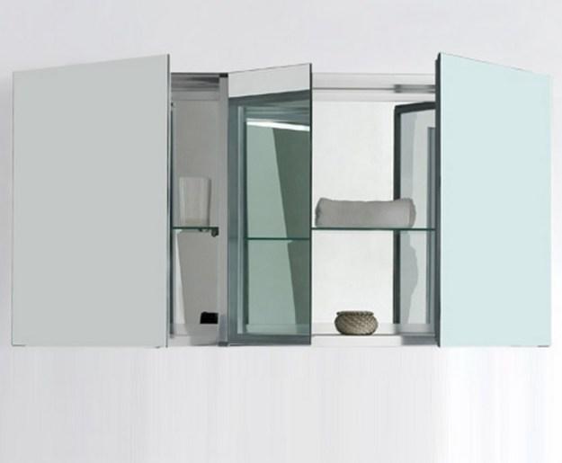 "kubebath 50"" wide bathroom medicine cabinet w/ mirrors"
