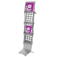 portable literature racks folding