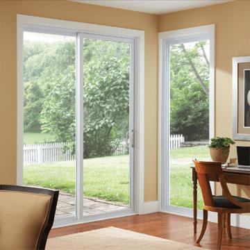 sliding patio door white silver line 6 0 x 6 8