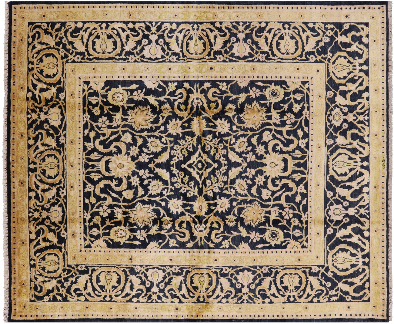 signed hand knotted 8 x 10 peshawar wool area rug h7226