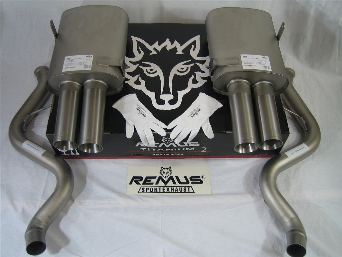 remus titanium ii performance exhaust bmw m3 e90 e92 e93