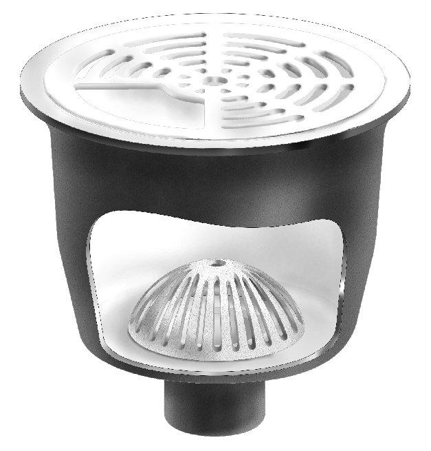 mifab fs1760 12 x 8 round a r e cast iron sanitary floor sink