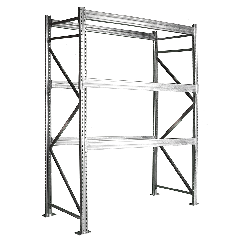42 d x 20 h 3 tier galvanized pallet rack starter units heavy duty