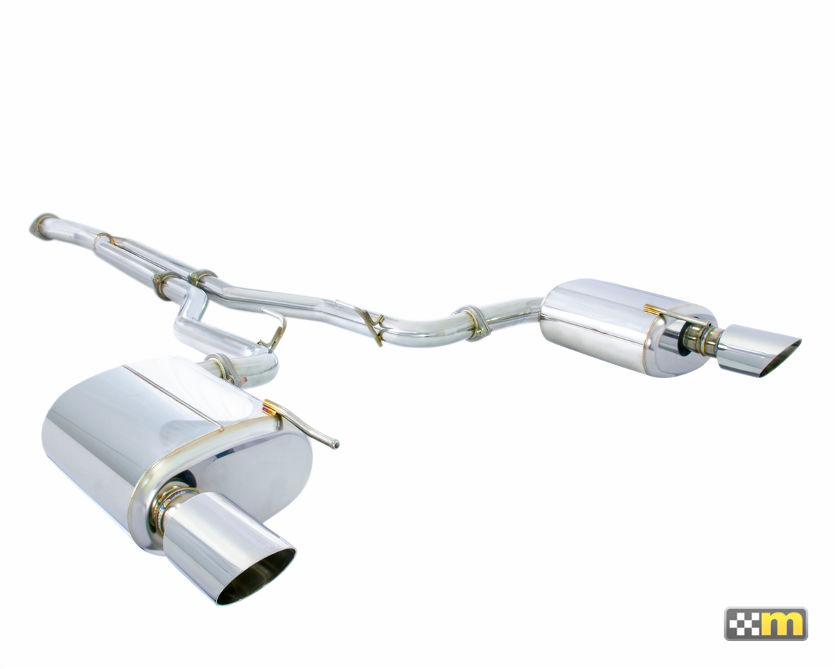 mountune cat back sport exhaust system mustang ecoboost 2015 2017
