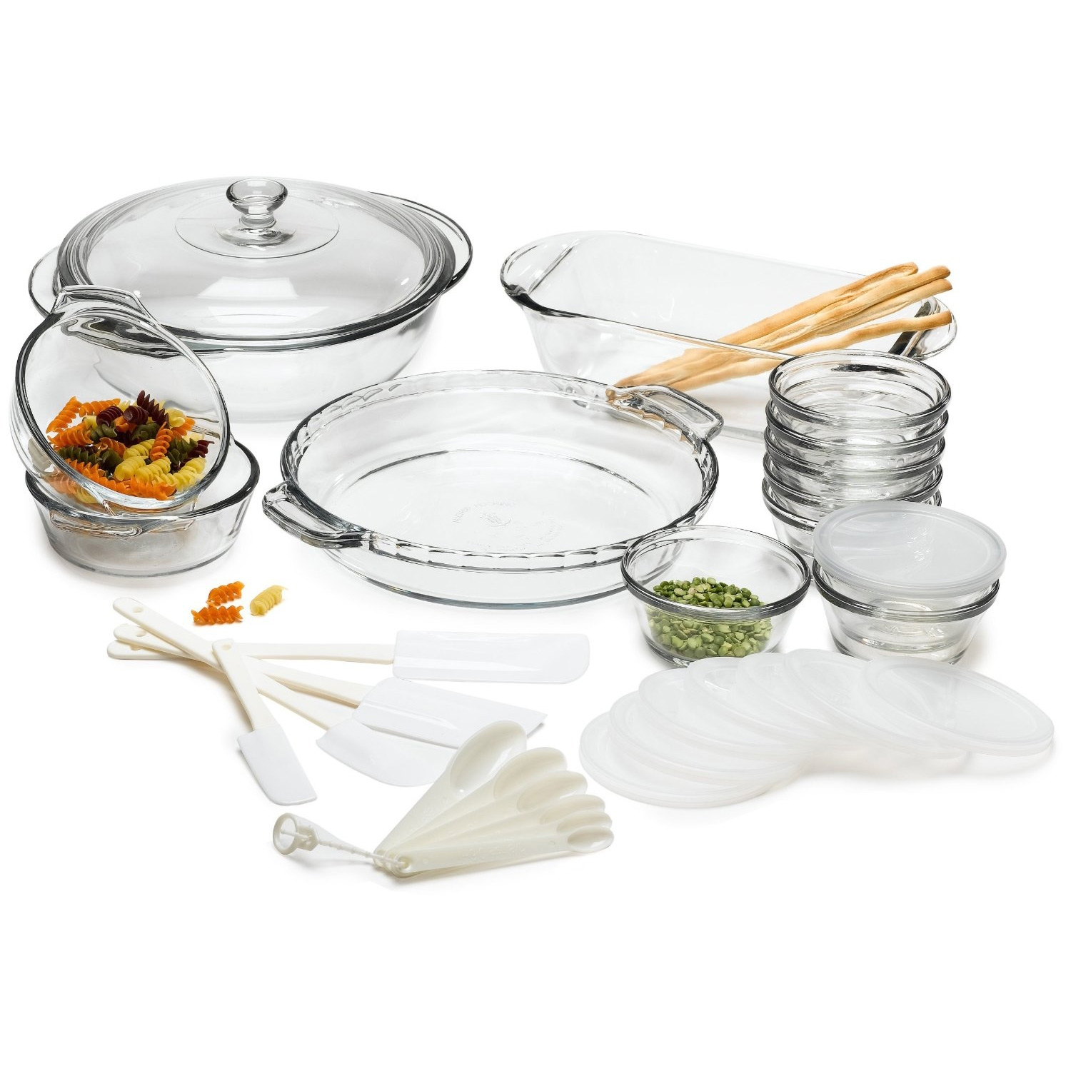 33 piece glass cookware set made in the usa