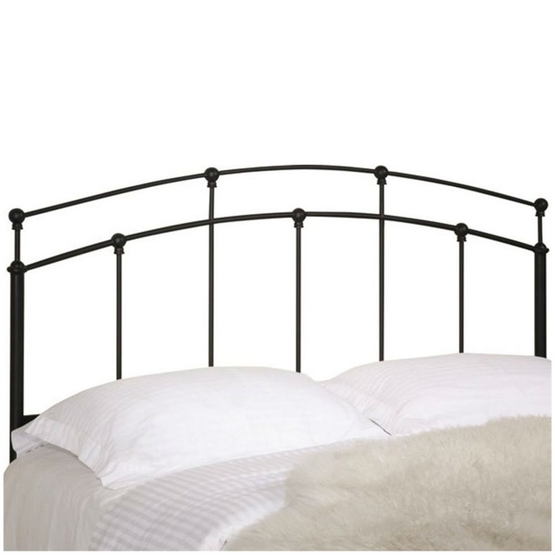 full queen size arch headboard in black metal finish