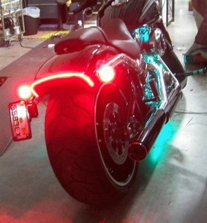 Harley Davidson FXSB Breakout LED Fender Eliminator Kit with LED Turn Signals and brake Light