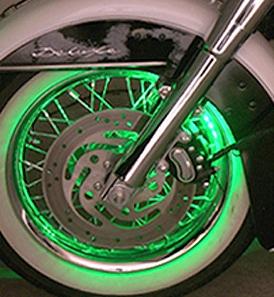 led wheel accent lighting pucks