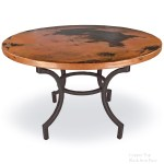 Corinthian Wrought Iron Dining Table With 48in Round Top