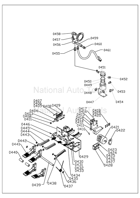 NTC950 Parts Breakdown  Blue Machine Diagrams of Wheel Service Equipment and their parts