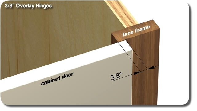 3 8 Overlay Hinges