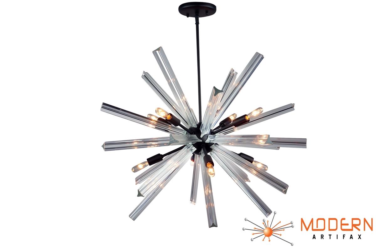Sputnik Chandelier Oil Rubbed Bronze Finish 27 In