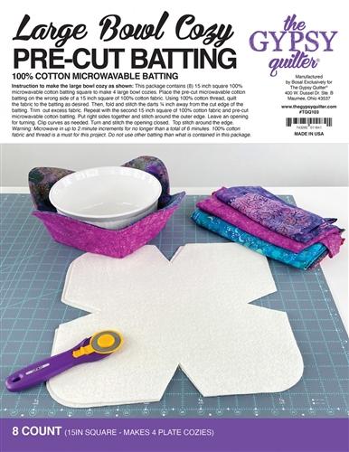 bowl cozy large pre cut batting 8 set for 4 bowls