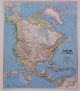 National Geographic North America Political 36x48