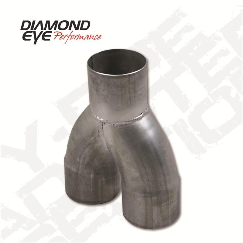 diamond eye 261075 5 409 stainless steel y pipe for 2004 5 2007 dodge 5 9l cummins