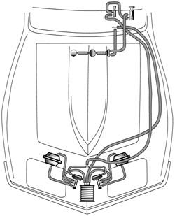 8082 Corvette Headlight Headlamp & Wiper Door Vacuum Hose Kit