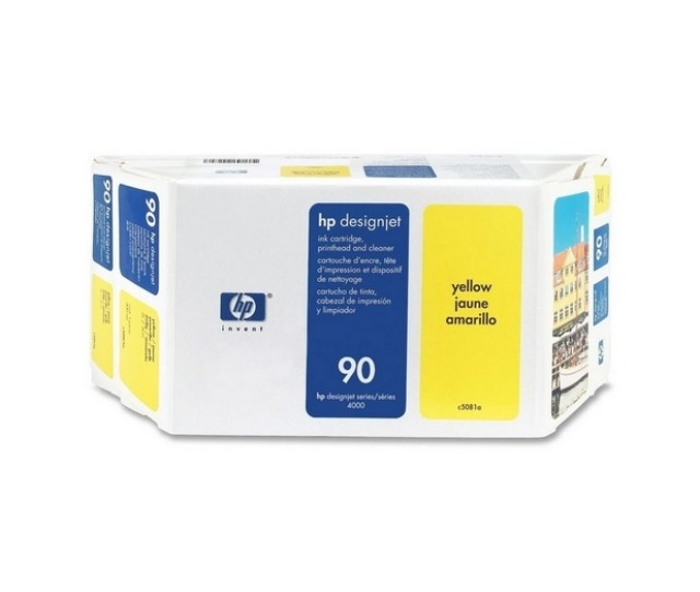 Hp 90 Yellow Value Pack 400ml Ink Printhead Printhead Cleaner For Designjet 4000