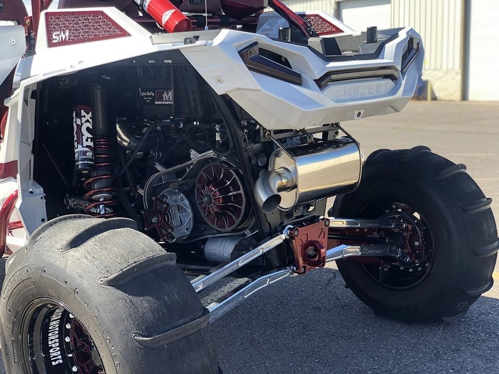 treal performance 2016 2021 polaris rzr xp turbo s full exhaust system single outlet