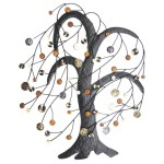 Windy Button Tree Metal Wall Art