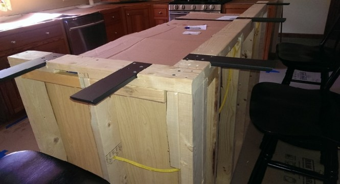 Countertop overhang support bstcountertops for How to support granite countertop overhang