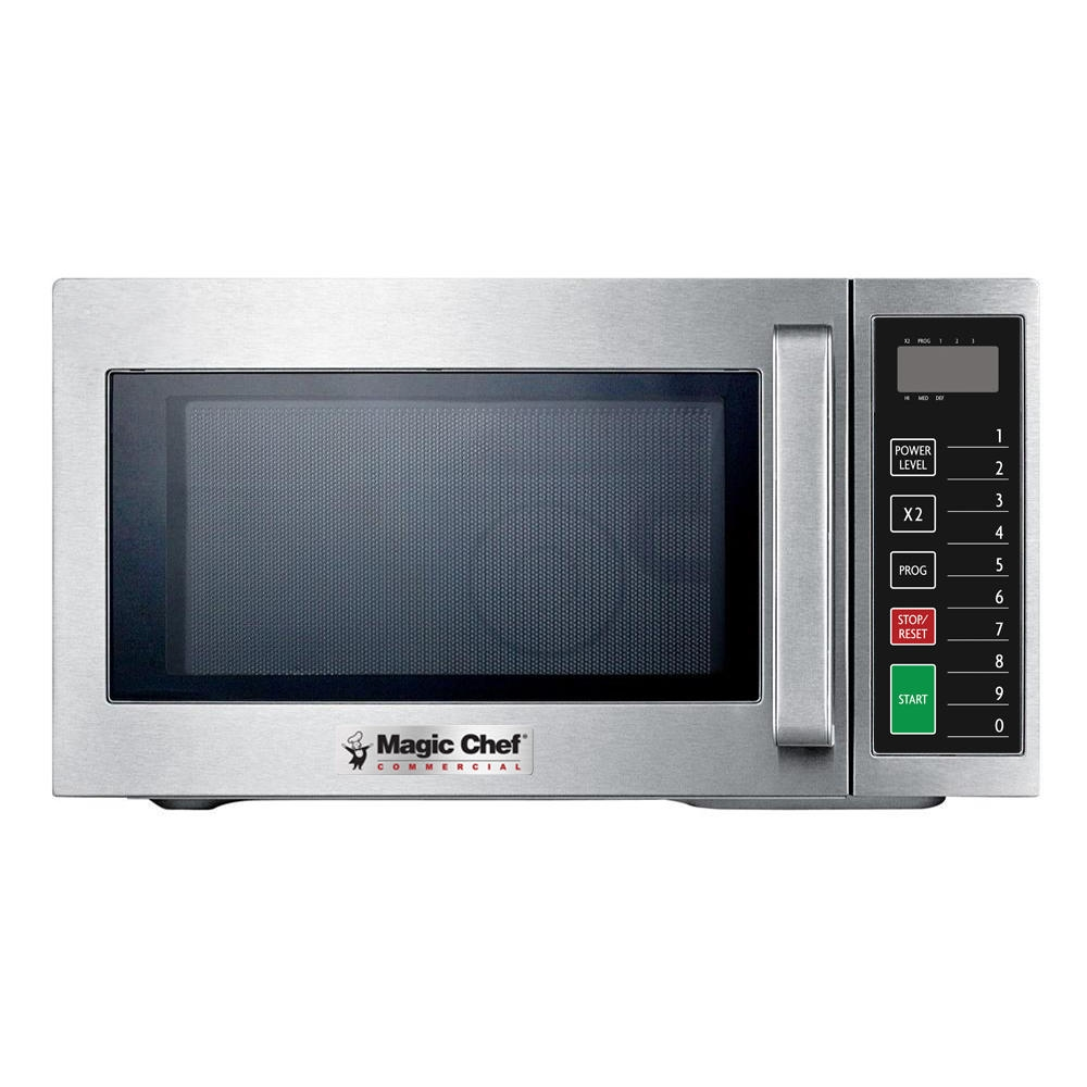 magic chef mccm910st 0 9 cu ft commercial countertop microwave stainless steel
