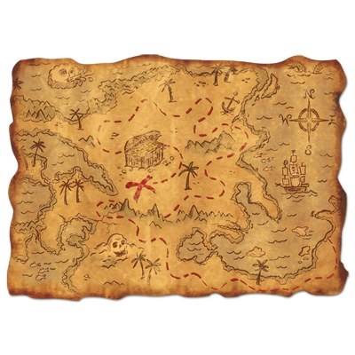 Pirates Treasure Map PartyCheap