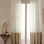 Sheer Linen Dual Color Curtain Panel Luxury Natural Ivory Drapery
