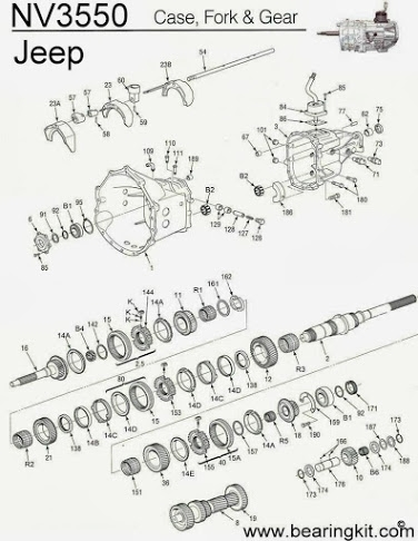 Jeep NV3550 Diagram  Drawing  Jeep Transmission Repair Parts