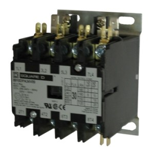 Square D 8910DPA44 40 AMP 4pole Definite Purpose contactor with an AC coil