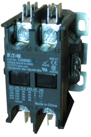 C25BNB230T Eaton Definite Purpose 2 pole Contactor rated