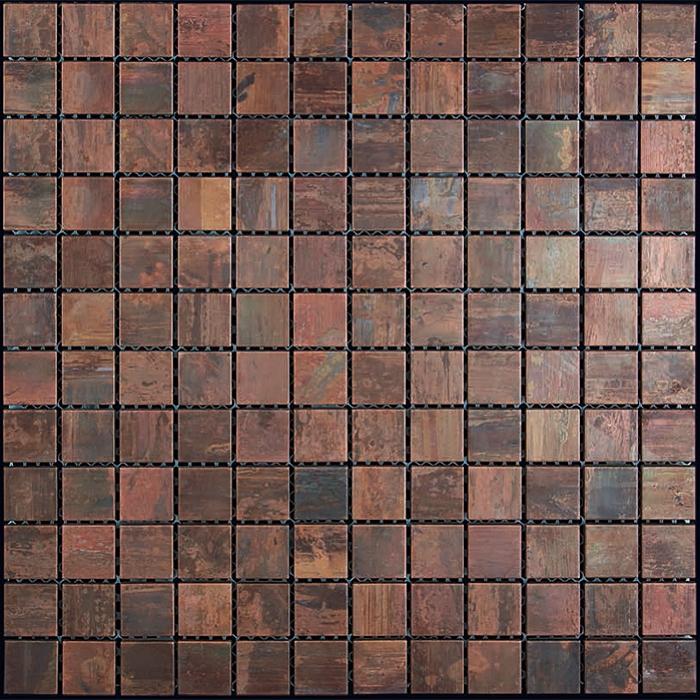 copper mosaic tile nova futura 1 x 1 patina copper metal mosaic