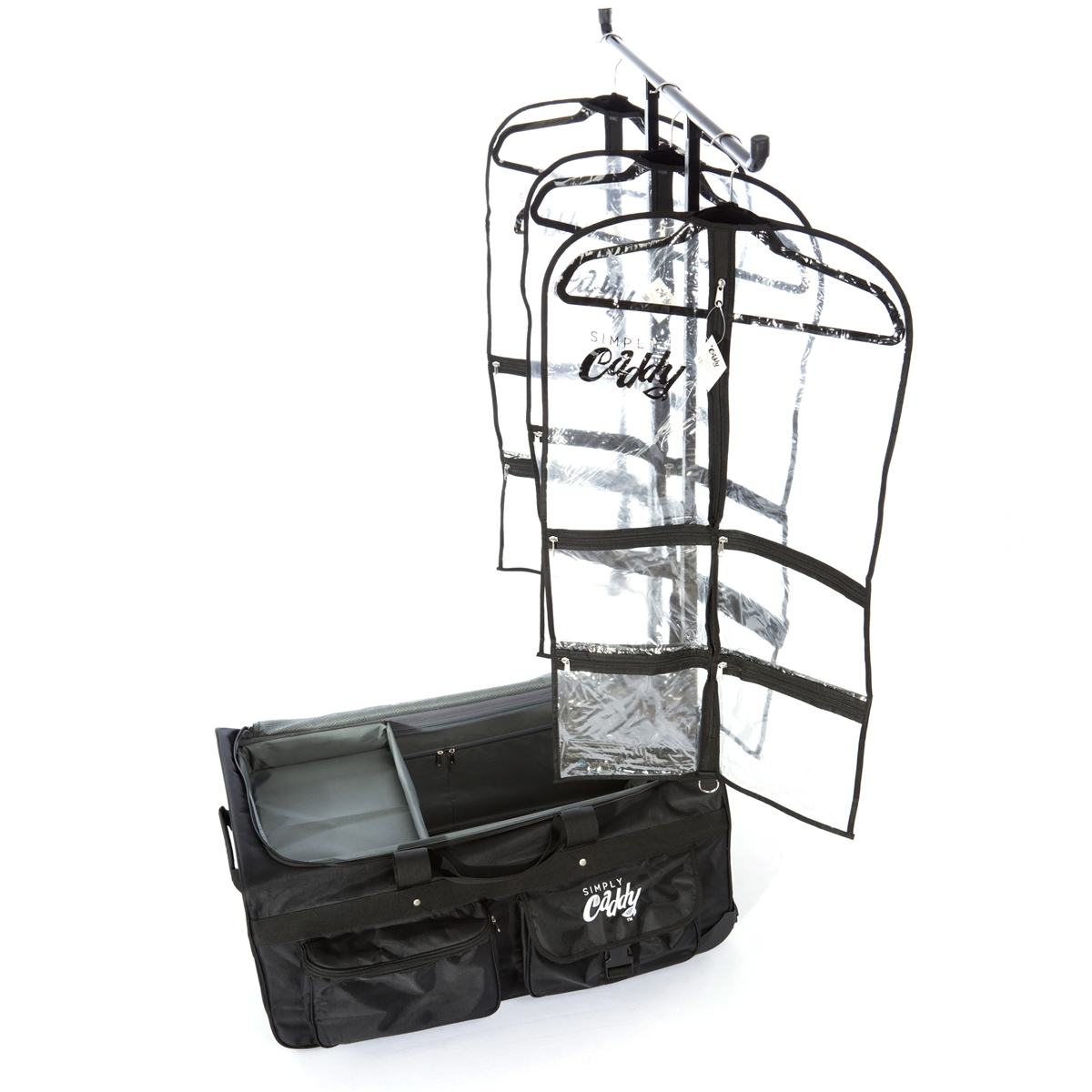 the caddy bag combo with black trim garment bags