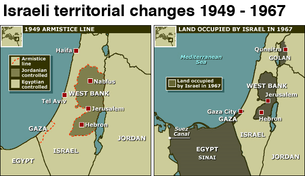 The 1967 Israeli-Arab War that set today's borders
