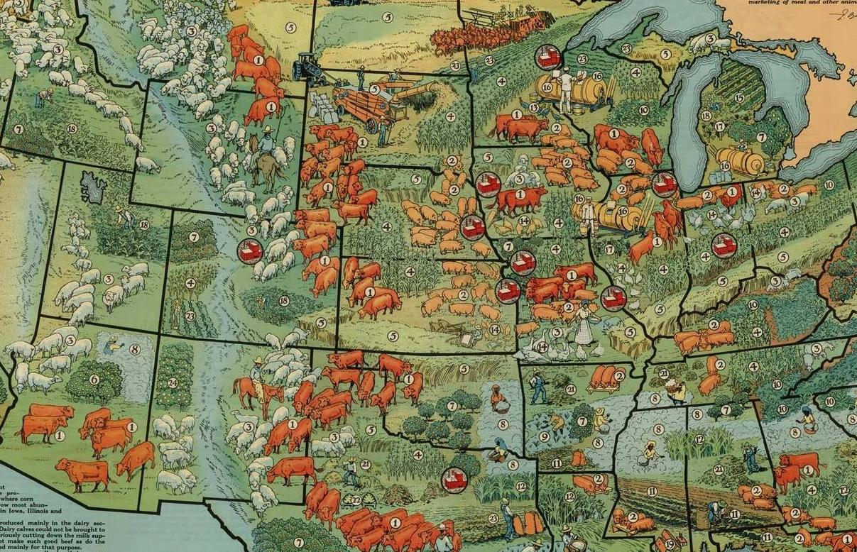 HD Decor Images » 40 maps that explain food in America   Vox com American agriculture in 1922