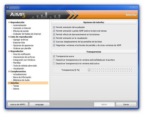 ¿Triste por la partida de Winamp? Conoce AIMP, la mejor alternativa para el reproductor - AIMP-3-personalizable