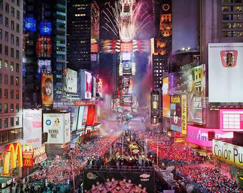 times square Tradiciones de Año Nuevo alrededor del mundo